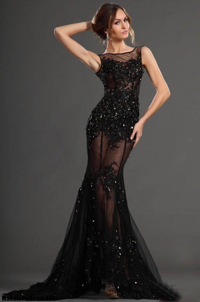 abartılı gece elbise modelleri