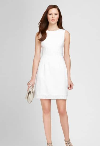 beyaz kısa elbise modeli