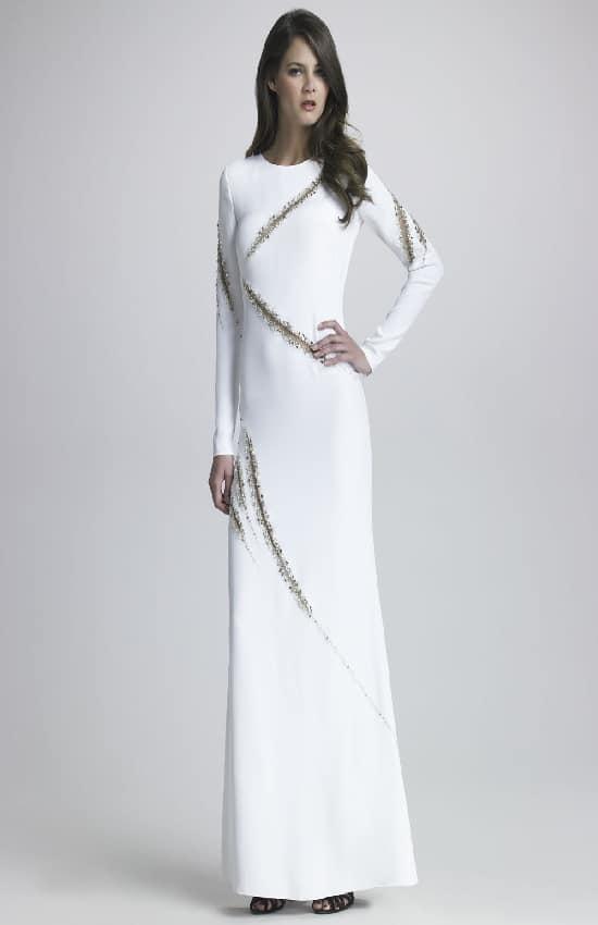 beyaz uzun kollu abiye modelleri
