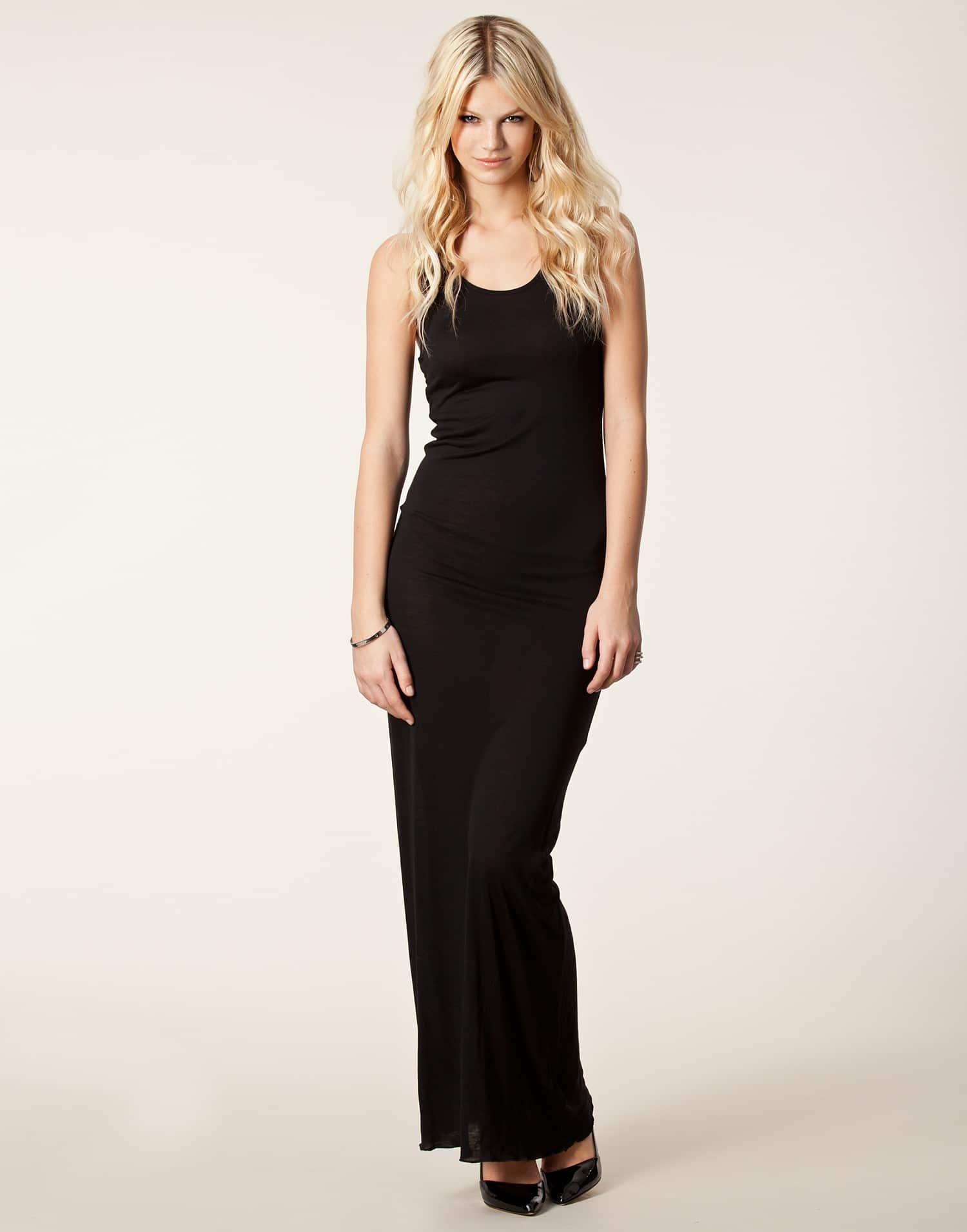 günlük siyah elbise modelleri