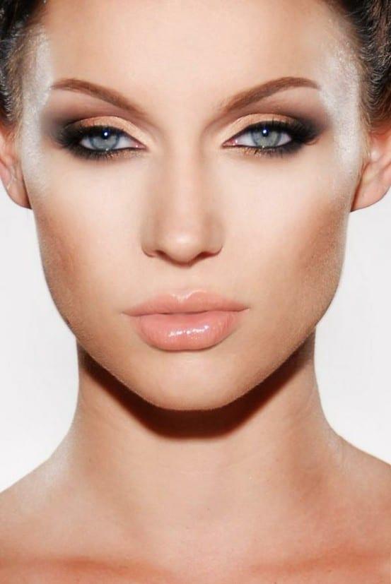 hafif göz makyajında far kullanımı