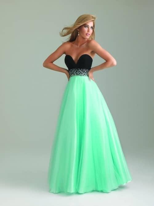 iki renk balo elbisesi