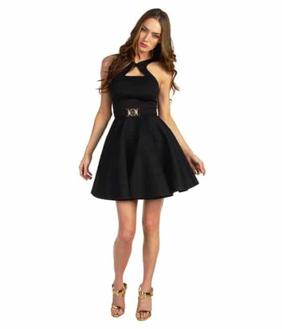 kısa elbise kombini