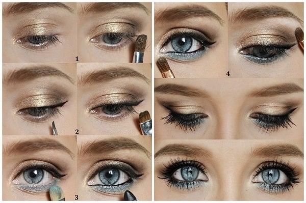 mavi göz makyajı için öneriler