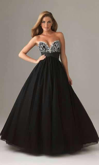 payetli balo elbisesi