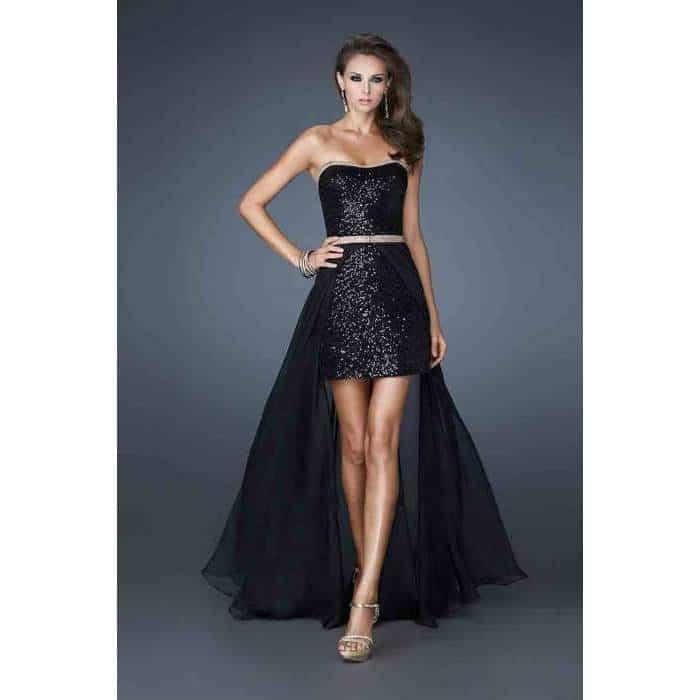 siyah balo elbiseleri