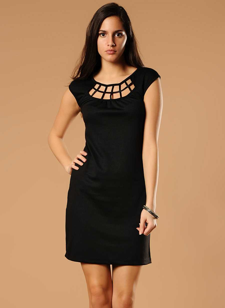 siyah kısa elbise modelleri