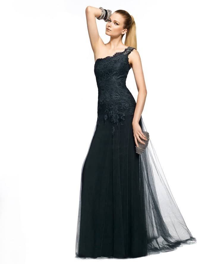 siyah uzun abiye modelleri