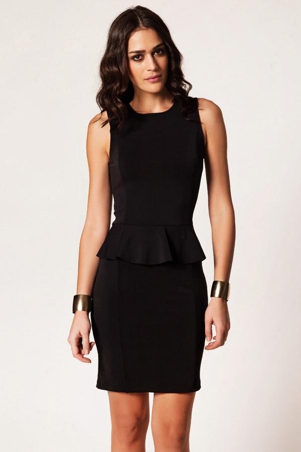 tarz siyah elbise modelleri