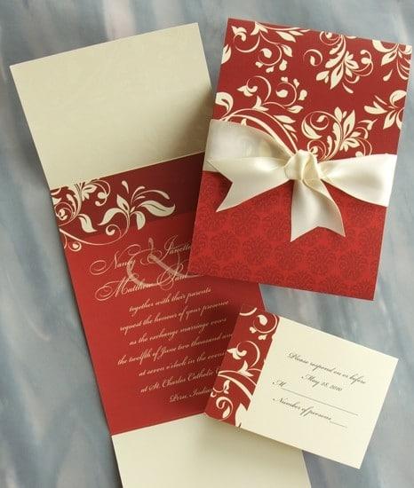 2016 düğün davetiyesi modelleri kırmızı