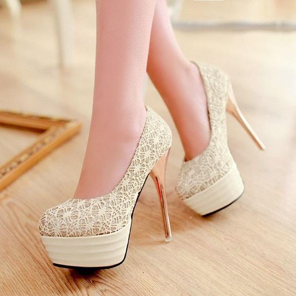 tarz gelinler için ayakkabı modelleri