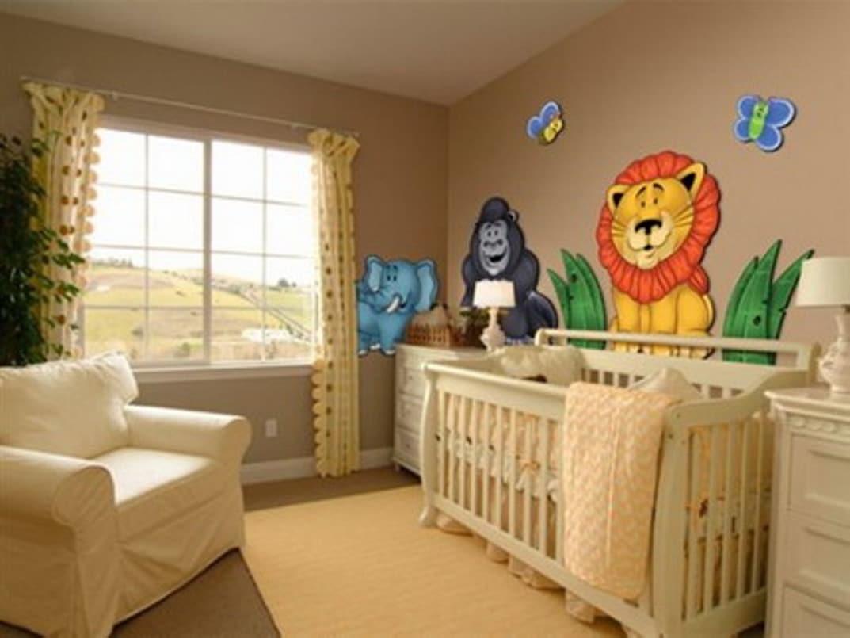 2016 bebek odası dekorasyonu süslü