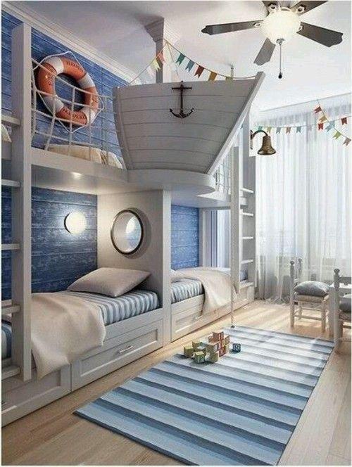 ocuk odası dekorasyon önerileri mavi