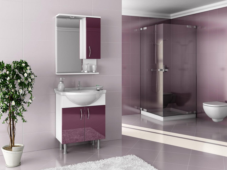 renklli banyo dekorasyonu