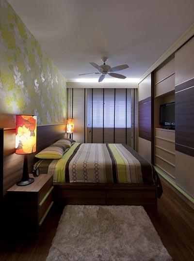 Интерьер спальни узкой и очень узкой 119 фото