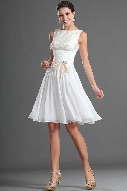 Beyaz Abiye Elbise kısa