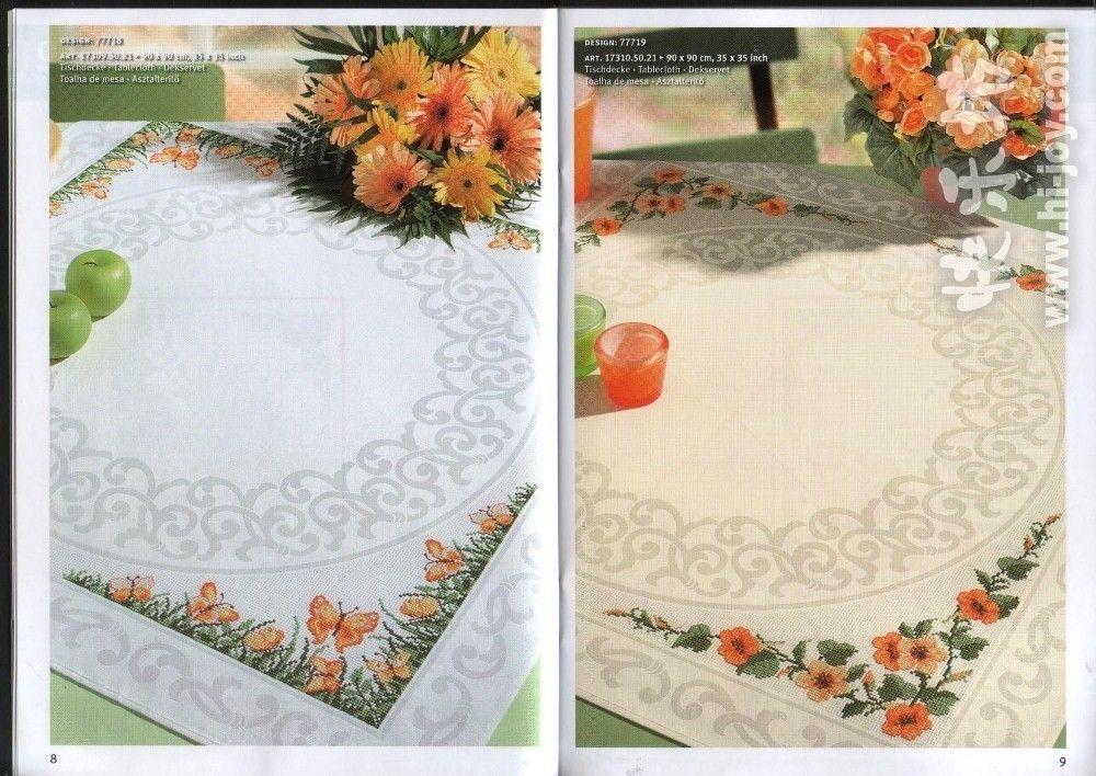Kanaviçe masa örtüsü modelleri