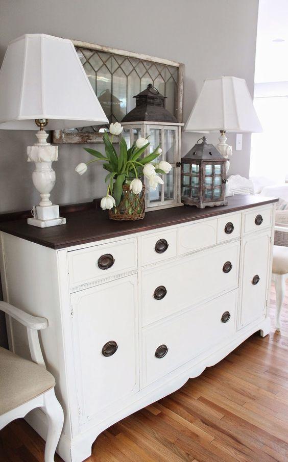 vintage mobilya modası şifonyer-vintage mobilya örnekleri