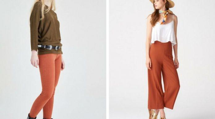 kiremit rengi pantolon kombinleri