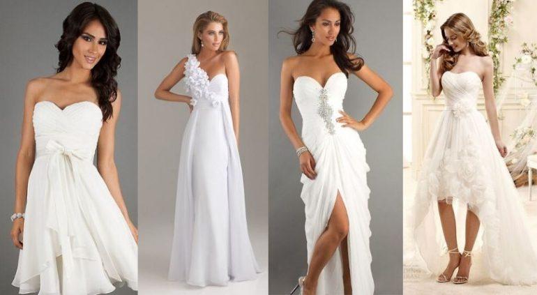 Beyaz Abiye Elbise Kombinleri