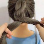 Çocuk Kolay saç örgü modeli