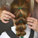 Evde yapılabilecek kolay okul saç modelleri