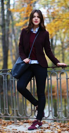 Siyah pantolon kombinleri sonbahar
