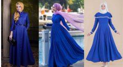 Saks Mavisi Elbiseye Hangi Renk Şal