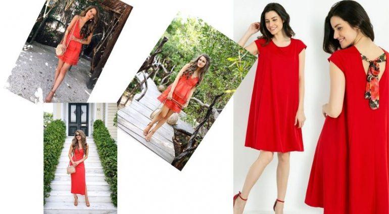 Kırmızı Elbise Kombinleri İle Büyüleyici Olabilirsiniz