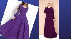 Mor Elbise Kombinleri İle Asil Bir Duruş Yakalayın