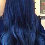 En güzel Mavi siyah saç rengi