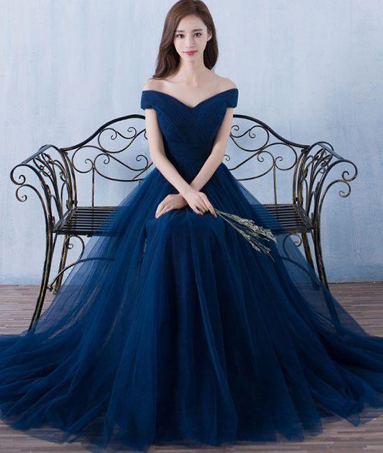 Lacivert Elbise modelleri 2019-2020