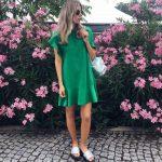 Yazlık Yeşil Elbise Modelleri Kombinleri
