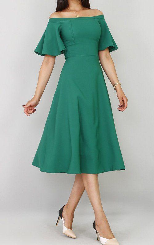 Yeşil Elbise altına ne renk ayakkabı