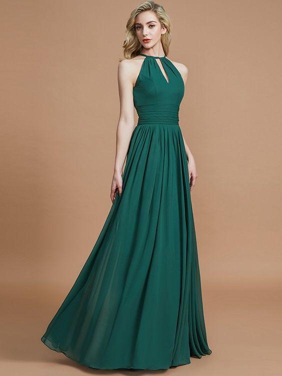 Yeşil elbise modelleri uzun