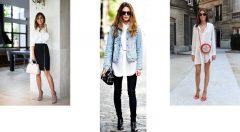 Beyaz Gömlek Kombinleri Bayan (Görülmeye Değer)