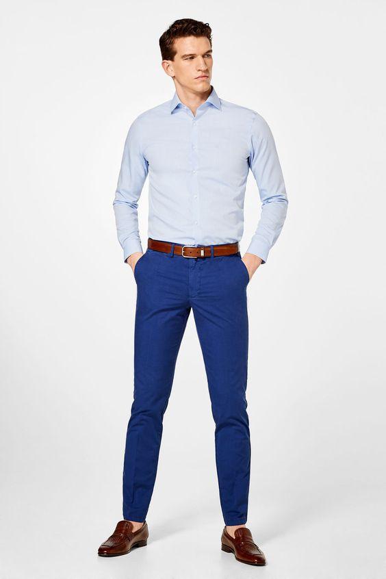 Saks Mavisi Pantolon üstüne ne renk ayakkabı giyilir
