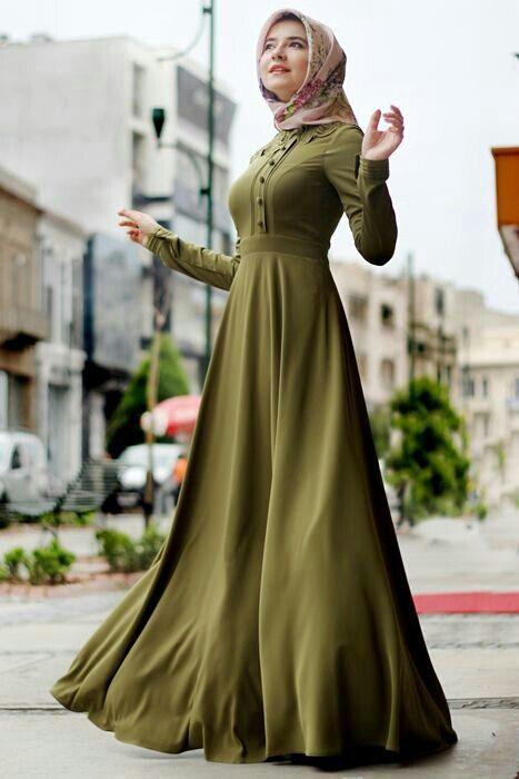 asker yeşili elbise kombinleri