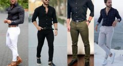Siyah Gömlek Kombinleri Erkek