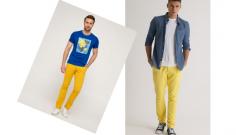 Sarı Pantolon Kombin Erkek