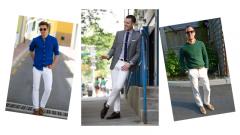 Erkek Beyaz Pantolon Kombinleri (30+stil)
