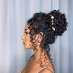 kıvırcık saçlar için topuz modelleri