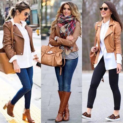 Bu senenin kadın deri ceket kombinleri