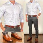 Erkek pantolon gömlek kombinleri
