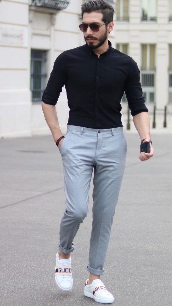 Kumaş pantolon gömlek kombinleri erkek