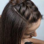 kolay saç örgüleri okul için