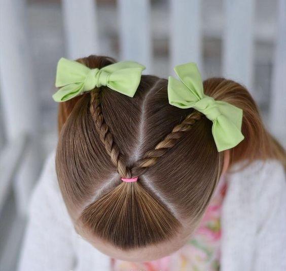 okul için örgü saç modelleri
