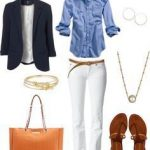 Lacivert ceket beyaz pantolon