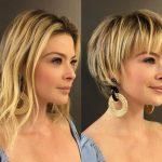 kısa katlı düz saç modelleri