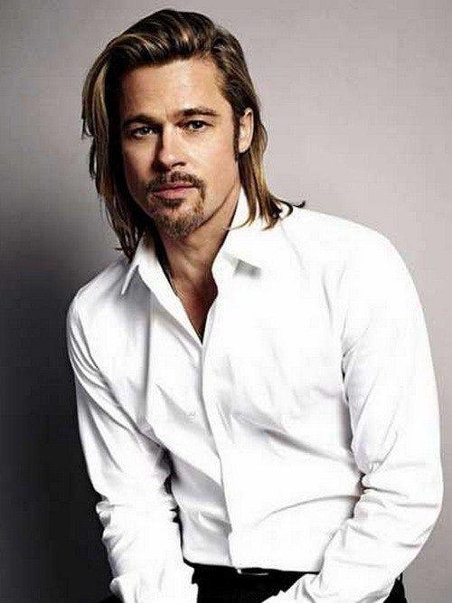 Klasik uzun saç kesimi erkek